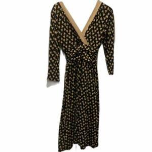 Sandra Darren V-neck Long Sleeve Dress Midi 10